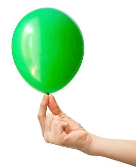 Photo de ballon gonflable sur fond blanc