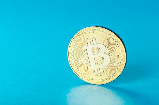 Photo bitcoin d'or