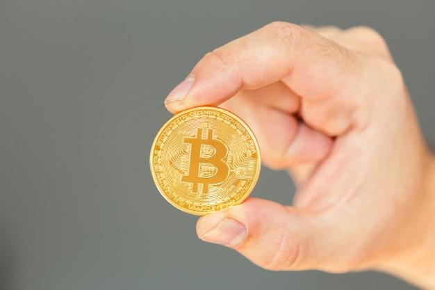 Photo bitcoin d'or