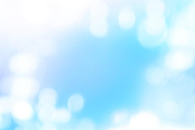 Photo bokeh isolé sur couleur bleue, fond