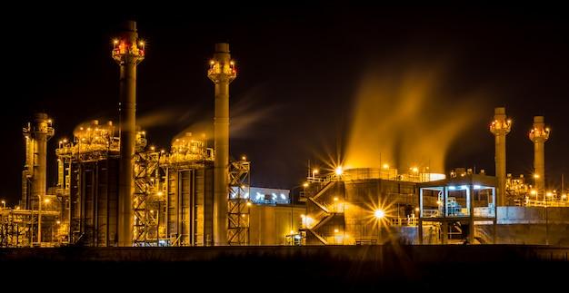 Une photo de centrale industrielle