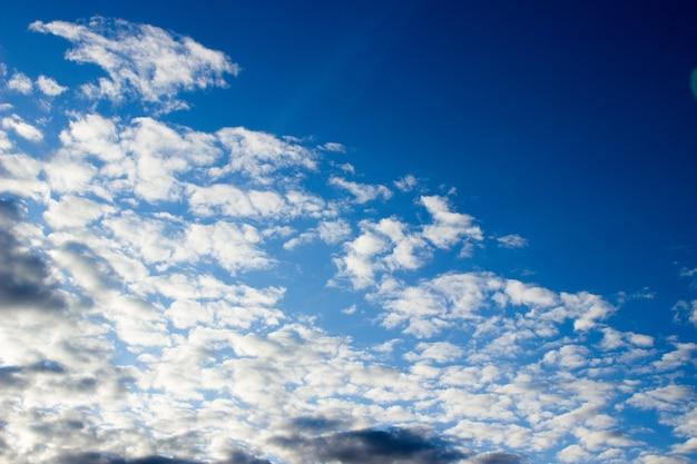 Photo ciel ciel du soir duveteux nuages