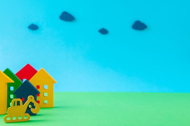 Photo de conception d'art du nouvel hôtel de construction de pelle d'excavatrice de chalet de règlement