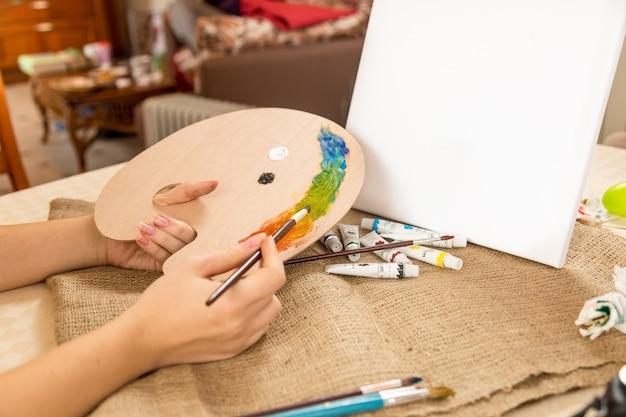 Photo conceptuelle du passe-temps de dessin à la maison