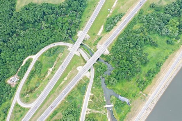 Photo de drone quadricoptère air vert