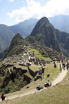 Photo du point de vue du machu picchu, pérou