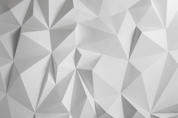 Photo de fond abstrait de polygones sur fond blanc. texture blanche.