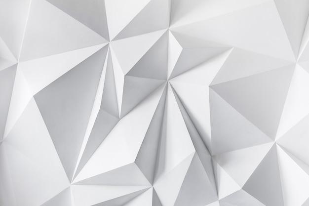 Photo de fond abstrait de polygones sur fond blanc