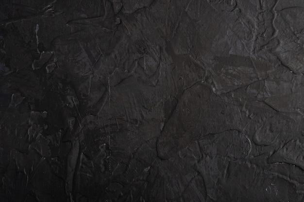 Photo de fond texturé sombre créatif dans les couleurs grunge noir, marron et bleu, toile de fond et gouttes de peinture