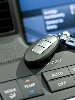 Photo en gros plan de clé de voiture électronique