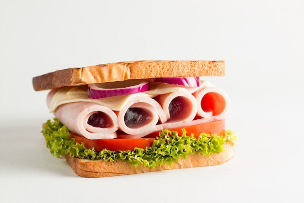 Photo en gros plan d'un club sandwich.