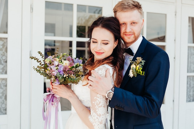 Photo des mariés le jour de leur mariage