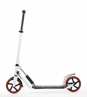 Photo scooter blanc sur fond blanc isolement