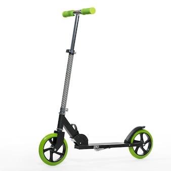 Photo scooter noir sur fond blanc isolement