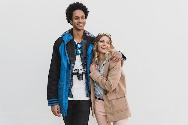 Photo shoot couple à la mode