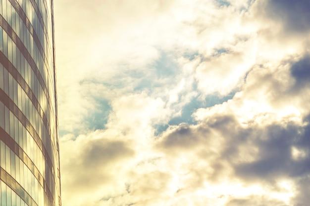 Photo de style vintage de gratte-ciel