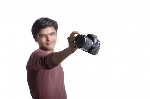 Photographe avec appareil photo
