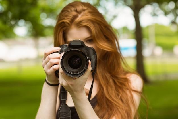 Photographe au parc