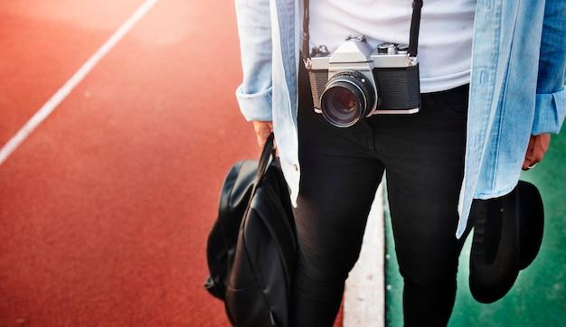 Photographe loisir style loisirs concept