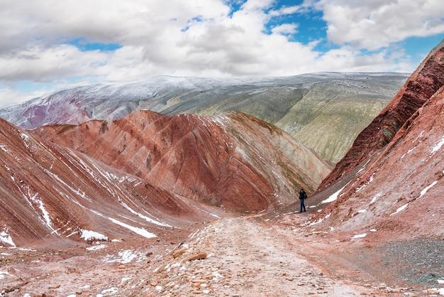 Photographe de voyageur dans les hautes terres