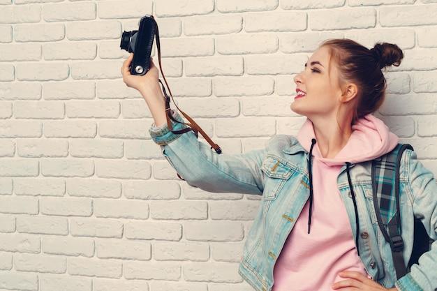 Photographe voyageur femme