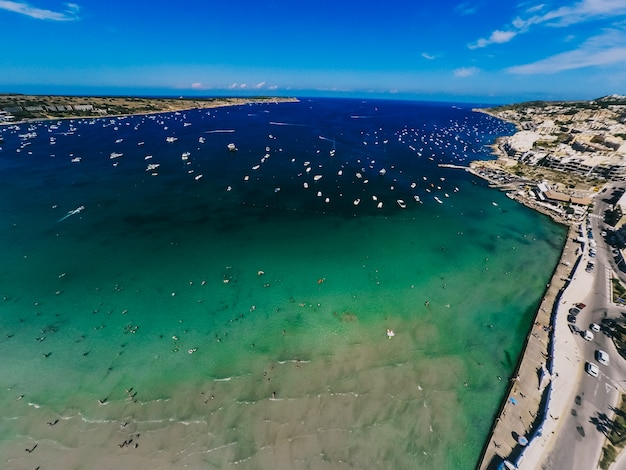Photographie aérienne de malte