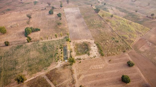 Photographie aérienne, parcelle agricole, photographie par drone.