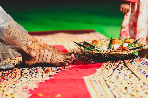 Photographie de cérémonie de mariage traditionnel indien