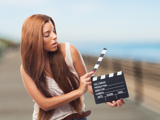 Photographie en noir hollywood personnes actrice