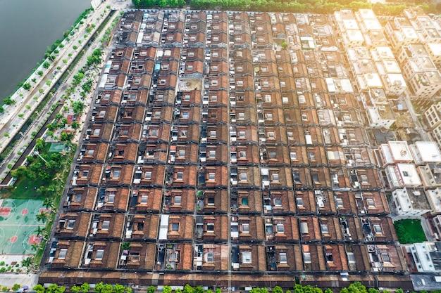 Photos aériennes de l'ancienne ville du district de chaoyang, ville de shantou, chine