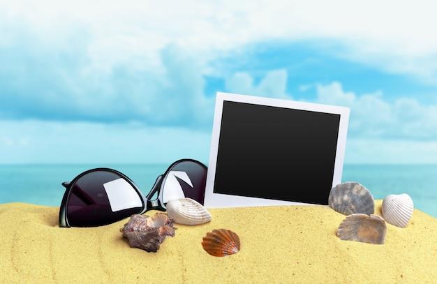 Photos sur fond de sable