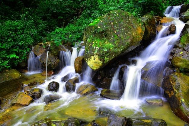 Photos de longue exposition d'un ruisseau à nuwara eliya sri lanka