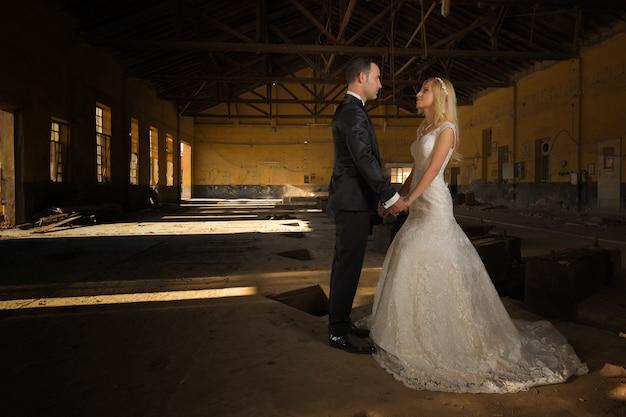 Photos de mariage de couple de mariés