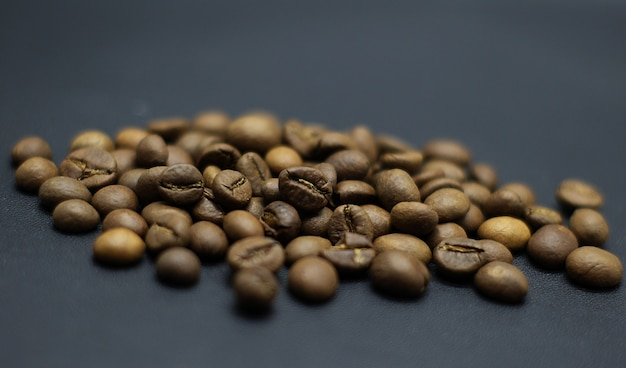 Photoshoot de grains de café