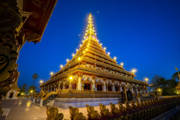 Phra mahathat kaen nakhon situé à wat nong waeng
