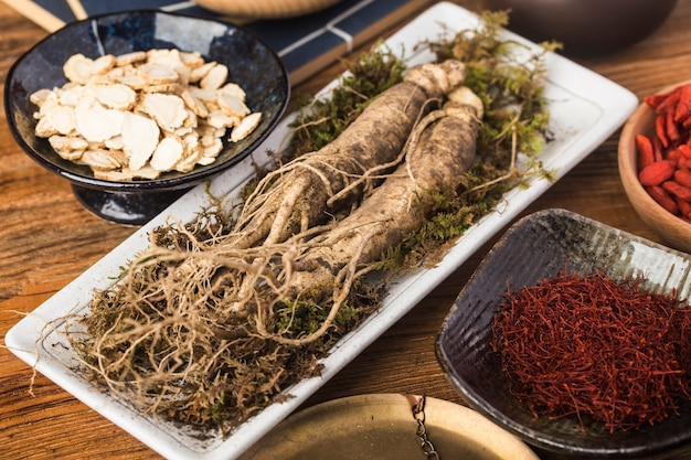 Phytothérapie coréenne: ginseng frais