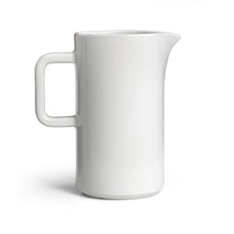 Pichet en céramique blanche