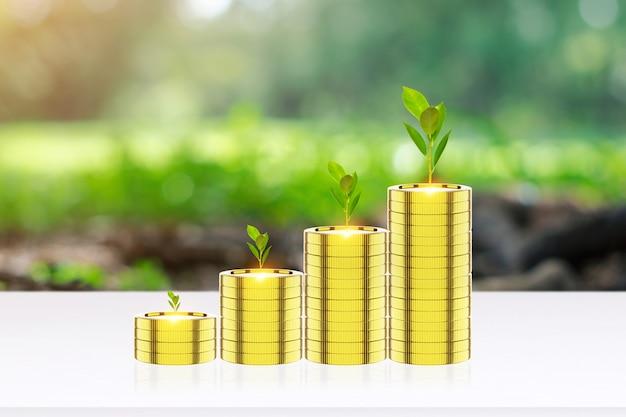 Pièce d'argent pour développer votre entreprise. croissance des semis de plantes