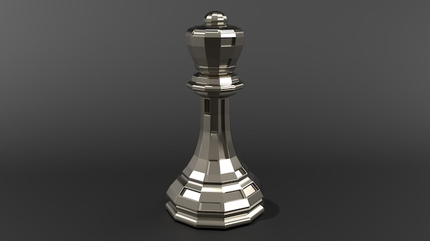Pièce d'échecs de rendu 3d réaliste