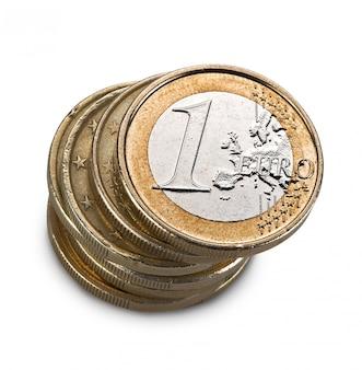 Pièce euro isolée sur blanc