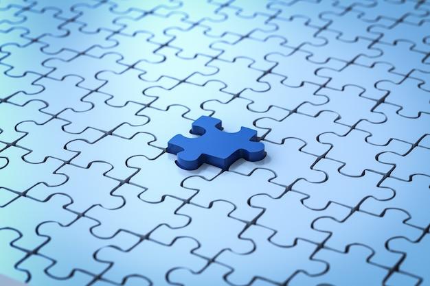 Pièce manquante de rendu 3d de puzzle