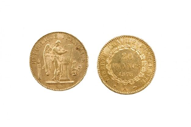 Pièce de monnaie gol, république française vingt francs