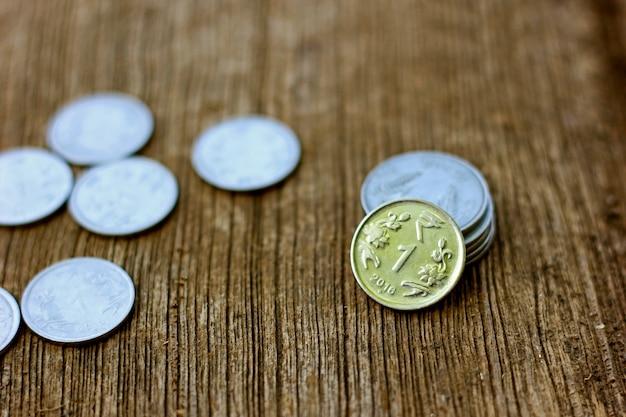 Pièce en monnaie indienne