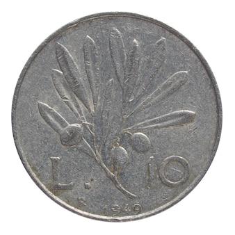 Pièce de monnaie italienne vintage