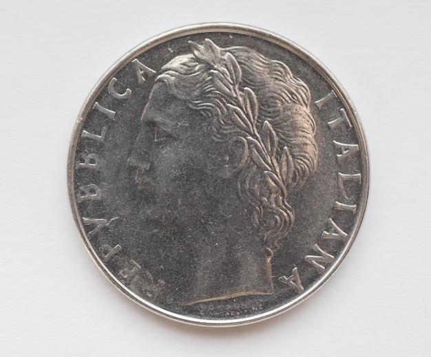 Pièce de monnaie en lire italienne