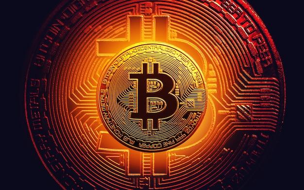 Pièce de monnaie d'or de bitcoin