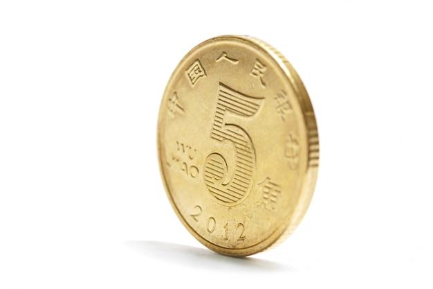 Une pièce de monnaie en or