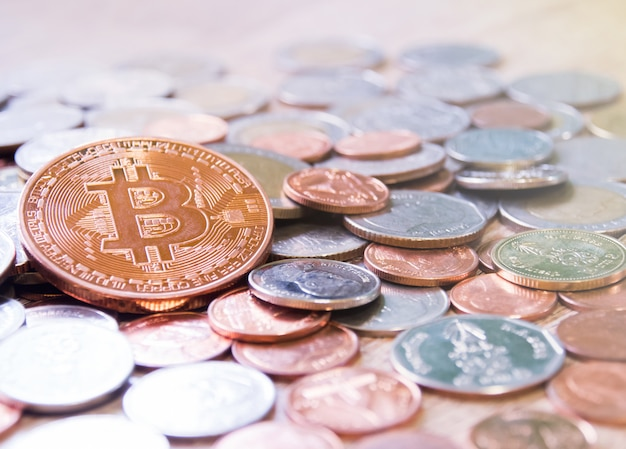 Pièce d'or bitcoin.
