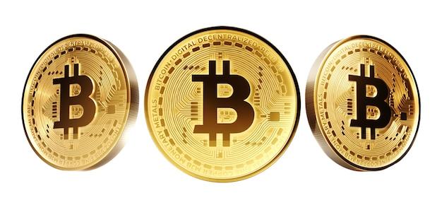 Pièce d'or avec signe bitcoin