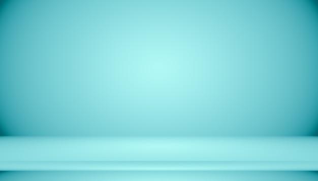 Pièce vide de fond abstrait dégradé bleu avec un espace pour votre texte et votre image.